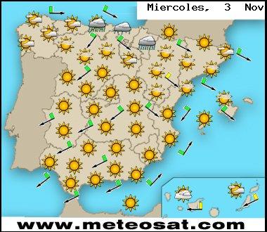 Previsión meteorológica para hoy