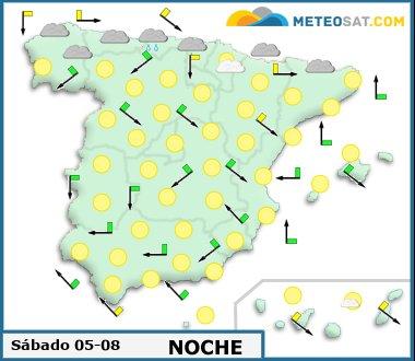 Mapa del tiempo en España previsto para hoy -http://www.meteosat.com/imagenes/mapas/sp/prevision_dia1_noche.jpg?1363183049