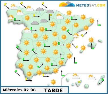 Mapa del tiempo en España previsto para hoy -http://www.meteosat.com/imagenes/mapas/sp/prevision_dia1_tarde.jpg?1363011259