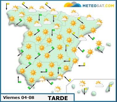 Mapa del tiempo en España previsto para hoy -http://www.meteosat.com/imagenes/mapas/sp/prevision_dia1_tarde.jpg?1363264973