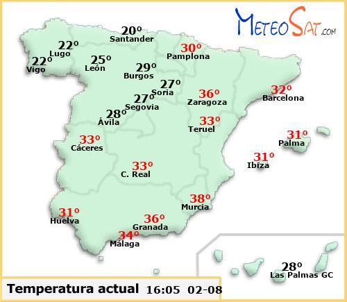 Температура в Испании