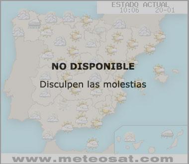 Mapa de condicones del tiempo en España