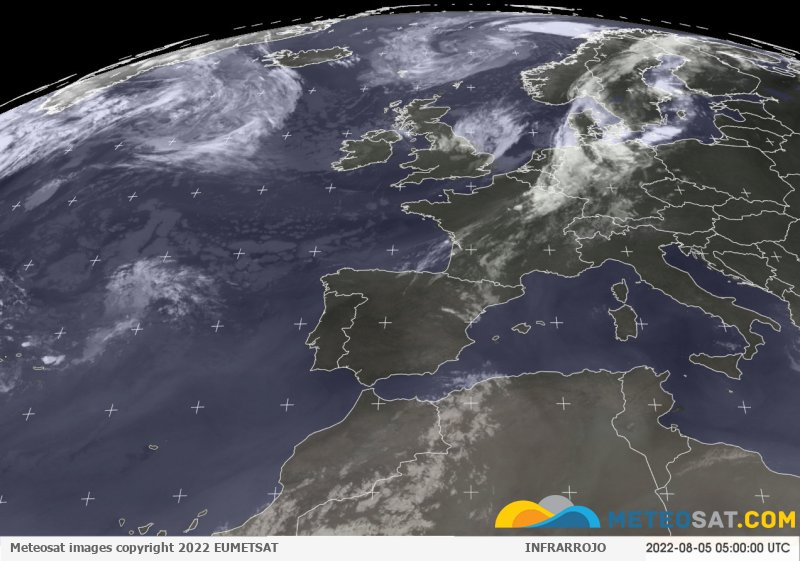 Imagen actual del satélite Meteosat