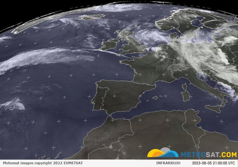 Imagen actual del satélite Meteosat. Clik en imagen para mas detalle