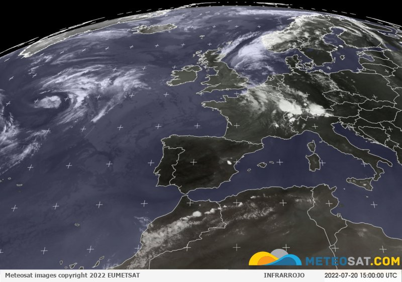 Imagen actual del satélite Meteosat